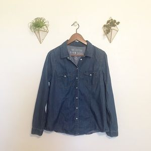 🌵Cotton On denim button up top